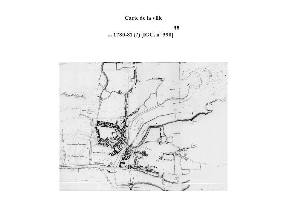 Carte de la ville ... 1780-81 ( ) [IGC, nº 390]